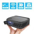 HD Wifi Projector Pico Size 1080P Screen Mirroring 3D Home Cinema Travel Use