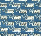 """NFL Detroit Lions Cotton Fabric by the 1/4, 1/2, Yard, 58""""W for Face Mask $24.95 USD on eBay"""