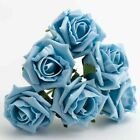 5CM FOAM ROSES - Bunch of Colourfast Artificial Wedding Bouquet Flowers Stems