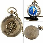Vintage Steampunk Design Pocket Watch Pendant Necklace Chain Quartz Movement New