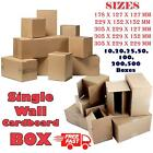 Single Wall Postal Packing Cardboard Boxes Quality Mailing Packaging 10-500x UK