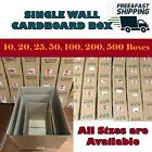 SINGLE WALL QUALITY POSTAL MAILING NEW CARDBOARD PACKAGING BOXES - MULTILISTING