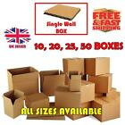 SINGLE WALL CARDBOARD BOXES - QUALITY POSTAL BOX MAILING PACKAGING *ALL SIZES*