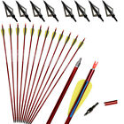 "31"" Archery Hunting Aluminum Arrows Compound Recurve Bow Longbow Shooting Target"