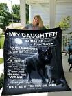 Wolf To My Daughter Never Feel You're Alone Walk As If You Own Place Dad Blanket