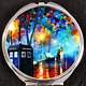 Doctor Who Tardis Time Lord Colorful Rain Night Makeup Compact Double Mirror
