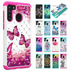 Diamond Bling Hybrid Shockproof Hard Case Cover For Samsung A51/a71/a21/a01/a30s