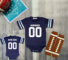 Dallas Cowboys Personalized Custom Jersey Bodysuit Shirt Set Outfit