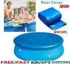 6/8/10Ft Round Swimming Paddling Pool Cover Inflatable Easy Fast Set Rope US Hot