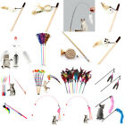 Interactive Sisal Balls Feather Cat Stick Teaser Wand Playing Rod Cat Toy V$ :D