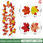 180cm Artificial Autumn Fall Maple Leaves Garland Hanging Plant Home Party Decor