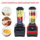 3 HP Commercial Blender Smoothie Maker 2200W Heavy Duty High Speed 45000RPM USA
