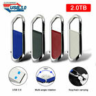USB 3.0 2TB Swivel Metal Key Chain Flash Drive Memory Stick Pen Thumb U Disk