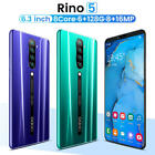 Rino5 Smartphone 6.3 Inch Dual Sim 6g+128gb  Android Cheap Mobile Phone 2020