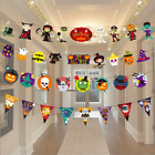 1PC 3M Paper Chain Garland Banner Pumpkin Bat Spider Flags Bunting Halloween Dec