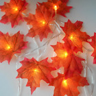 1.5M 3M 20 Lights Maple Leaves Garland Led Fairy Lights for Christmas Decoration