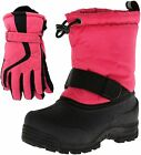 Northside Frosty Kids Winter Snow Boots & Gloves Combo for Girls Boys