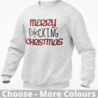 Merry F*cking Christmas Jumper Sweatshirt Rude Offensive Novelty Adult Gift