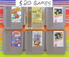 Original Nintendo NES Games Lot Authentic / Cleaned / Tested $20-30 Good Titles