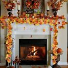 1.75m Home Autumn Decoration Leaves Garland Artificial Maple Leaf Vine Fake