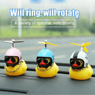 Small Home Car Decoration Ornaments Creative Cute Wearing Helmet Yellow Duck