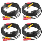 10M 33Ft HU86 Security Camera Cable CCTV Video Power Wire BNC RCA Black Cord Lot