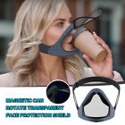 Transparent Smart Face Mask Adjustable Reusable Double Anti-fog Baffle Magnetic
