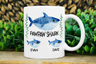 Personalized PawPaw Shark Mug, Custom PawPaw Mug with Kids Name, Gift For PawPaw