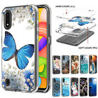 For Samsung Galaxy A01 A21 A51 A10e Hybrid Rubber Pattern Slim Phone Case Cover