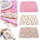 Warm Pet Cat Dog Mat Small Large Paw Print Puppy Fleece Bed Blanket Soft