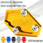 Kickstand Stand Extension Enlarger Pad for DUCATI Monster 1200 1200S 821 795 796