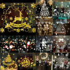 Christmas Window Stickers Xmas Santa Removable Art Decal Wall Home Shop Decor Uk