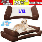 Deluxe Pet Dog Bed Foam Contour Lounger Therapeutic Sofa-Style Couch Bed