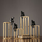 Metal Thinker Abstract Characters Sculpture Gold Home Decoration Ornament