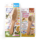 New Jolly Boar Hair Wooden Soft Bristle Brush 2 Size for All Small Animal