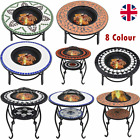 Garden Fire BBQ Mosaic Pit Tile Table Outdoor Cooking Barbeque Firepit Table New