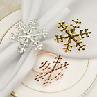 6Pcs Christmas Snowflake Napkin Rings Table Holiday Party Decor Towel Buckles