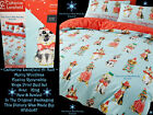 🐶 Next Catherine Lansfield Merry Woofmas Christmas Dogs Animal Bed Set Blue Red