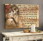 Skull Tattoo When i Say i Love You More Wall Art Home Room Decor Poster No Frame