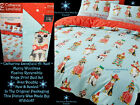 🐶 Next Catherine Lansfield Merry Christmas Woofmas Dogs Animal Bed Set Blue Red