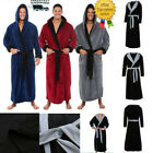 Luxury Long Bath Robe Dressing Gown Hooded Men Women Fluffy Fleece Bathrobe US