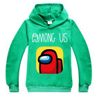 Game Among Us Kids Boy Hoodie Hooded Pullover Sweatshirt Jumper Clothes Outfits!