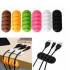 3PCS Cable Clip Desk Winder Earphone Organizer Wire USB Charger Holder Clips Kit