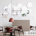 12/24pcs Hexagon Mirror Wall Stickers Removable 3d Acrylic Home Kids Room Decor