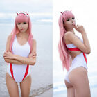 Anime DARLING in the FRANXX Zero Two Swimsuit Cosplay White Swimwear Lolita