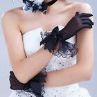 Women's Wrist Wedding Driving Bow Lace Gloves Party Prom Fishnet Gloves Shan