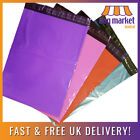 Coloured Mailing Bags | Red/Blue/Pink/Purple | Strong 55mu Poly Postal Self Seal