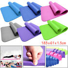 Large Non Slip Extra Thick Yoga Mat Exercise Pilates Gym Picnic Camping Straps