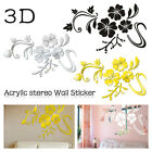 Flower Acrylic Sticker Home Decoration Mirror For Living Room Diy 3d Home Sel