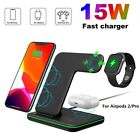 US 3In1 Qi Wireless Charger Dock Stand For Apple Watch AirPod 2/Pro iPhone 12 XS